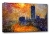 Monet, Claude: The Houses of Parliament, Sunset. Fine Art Canvas. Sizes: A3/A2/A1 (00246)